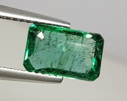 2.06 cts AAA Top Luster Green Octagon Cut Natural Emerald