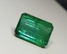 2.33 cts Beautiful Green Octagon Cut Natural Emerald