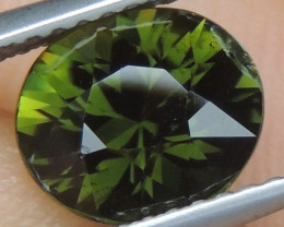 1.87cts, Certified Chrome Tourmaline, Precision Cut, Untreated