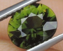 1.56cts, Certified Chrome Tourmaline, Precision Cut, Untreated