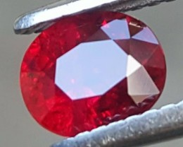 1.11cts, Pigeon's Blood Ruby, Certified, heat Only
