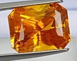 11.12cts Lotus Certified Sapphire,  Vivid Orange,  Heat Only