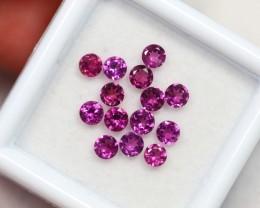 Lot 13 ~ 1.97Ct 3mm Natural VS Clarity Vivid Violet Rhodolite Garnet