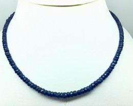 65 Crt Natural Sapphire Facetted Beads Necklace (R 131)