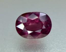 1.35 Crt Natural Rhodolite Garnet Faceted Gemstone (942)