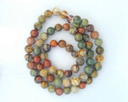6x6mm Natural Muti Color Picasso Jasper Loose Beads For Jewerly Making,40cm
