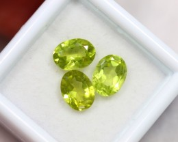 Lot 05 ~ 3.67Ct 7x5mm, 8x5mm Natural VS Clarity Green Himalayan Peridot