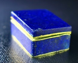 173 CT Natural lapis lazuli Carved Box Stone Special Shape