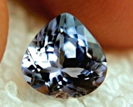 2.02 Carat VVS1 Pear Cut African Tanzanite - Gorgeous