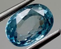 3.50Crt Blue Zircon  Best Grade Gemstones JI 201