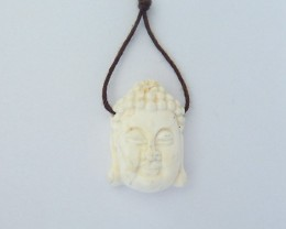 21ct Godness Pendant,Natural Howlite Carved Buddha Head Small Size For Jewe