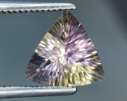 1.49 Cts Awesome Bolivian Ametrine Stunning Luster Faceted Cut ~ Kj79