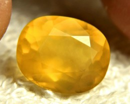 8.23 Carat Golden Mexican Fire Opal - Gorgeous