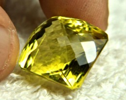 26.23 Carat Cushion Cut VVS1 African Lemon Quartz - Superb