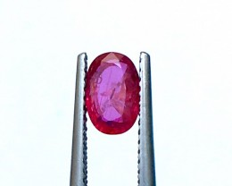 0.90CTS Natural Mozambique Ruby Good Color