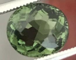 1.58ct Silky Green Oval Tourmaline - VVS Africa A171