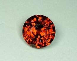 3.76 ct Fantastic Orange Round Cut Natural Zircon