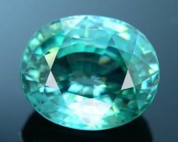 Absolute Beauty 10.34 ct Greenish Blue Zircon Cambodia SKU.6