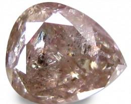 Certified Amazing Pear Cut Fancy Light Pink Diamond - 0.48 ct