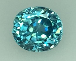 1.26 Cts Natural Zircon Awesome Color ~ Cambodia Kj80