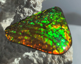 BIG BRIGHT DRAGONSKIN Natural Ammolite Gem 'Metallic color' REDUCED