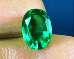 AGL Certified (Full Prestige Report) Top Of The Line 1.53 ct Zambian Emeral