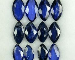 2.09 Cts Natural Blue Sapphire Marquise Cut 12 Pcs Parcel