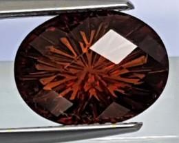 4.21cts Custom Cut Grossular Garnet, Untreated