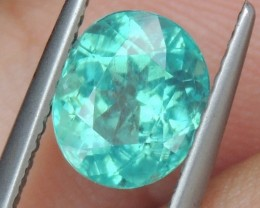 1.98cts Blue Apatite,  Paraiba Colored,