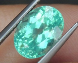 4.02cts Blue Apatite,  Paraiba Colored,