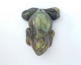 73CT Natural Labradorite Handcarved Frog Cabochon(18020707)