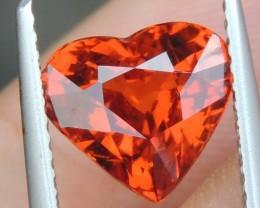 3.58cts,  Mandarin Spessartite,  Untreated Vivid Stone,