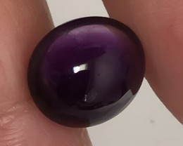 6.95ct Dark Purple Amethyst Cabochon Gem No Reserve