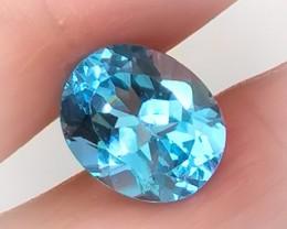 5.90ct Jewellery Grade Sparkling Blue Topaz No Reserve