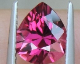 2.31cts Rhodolite Garnet,  Open Color,  Precision Cut, Clean, Untreated
