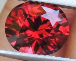 2.64cts Rhodolite Garnet,  Open Color,  Precision Cut, Clean, Untreated