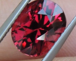 2.81cts Rhodolite Garnet,  Open Color,  Precision Cut, Clean, Untreated