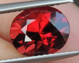3.00cts RED Mehenge Garnet,  Open Color,  Precision Cut