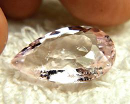 CERTIFIED - 19.42 Carat Brazilian Pink Morganite Pear - Superb