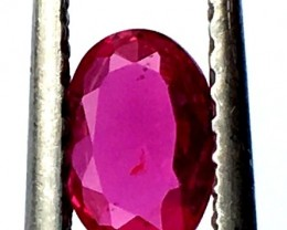 0.60CTS NATURAL CERTIFIED UNHEAT RUBY MOZAMBIQUE