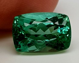 5.55Crt Green Spodumene  Best Grade Gemstones JI 203
