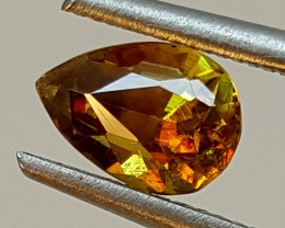 0.70Crt Color Change Multi Fire Sphene  Best Grade Gemstones JI 203