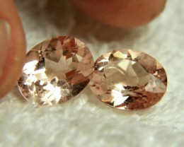 CERTIFIED ~ A BEAUTIFUL PAIR OF MORGANITE 'S ~ VVS1 ~ PERFECT FOR EARRINGS