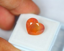 10.12Ct Natural Padparadscha Orange Brown Color Sapphire Heart Cut Lot V696