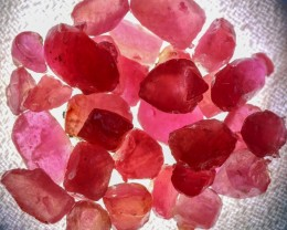 107.10 CTS RUBY ROUGH FROM MADAGASCAR  -TREATED/TRANSPARENT  [F7388]