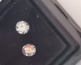 NATURAL WHITE DIAMOND-0.56CTW-2PCS