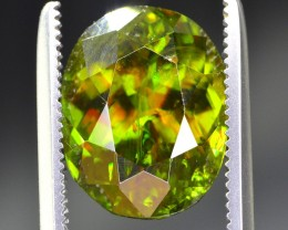 4.90 ct BRILLIANT FIRE AND SPARK CHROME SPHENE