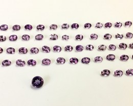 104.40CTS Gorgeous Amethyst Lot Very Clean