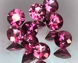 9 Rhodolite Garnets Jewellery Grade Matched stones 4mm each
