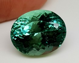 20.65Crt Top Green Spodumene Best Faceted Gemstones GS20